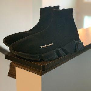 Balenciaga all black speed trainers